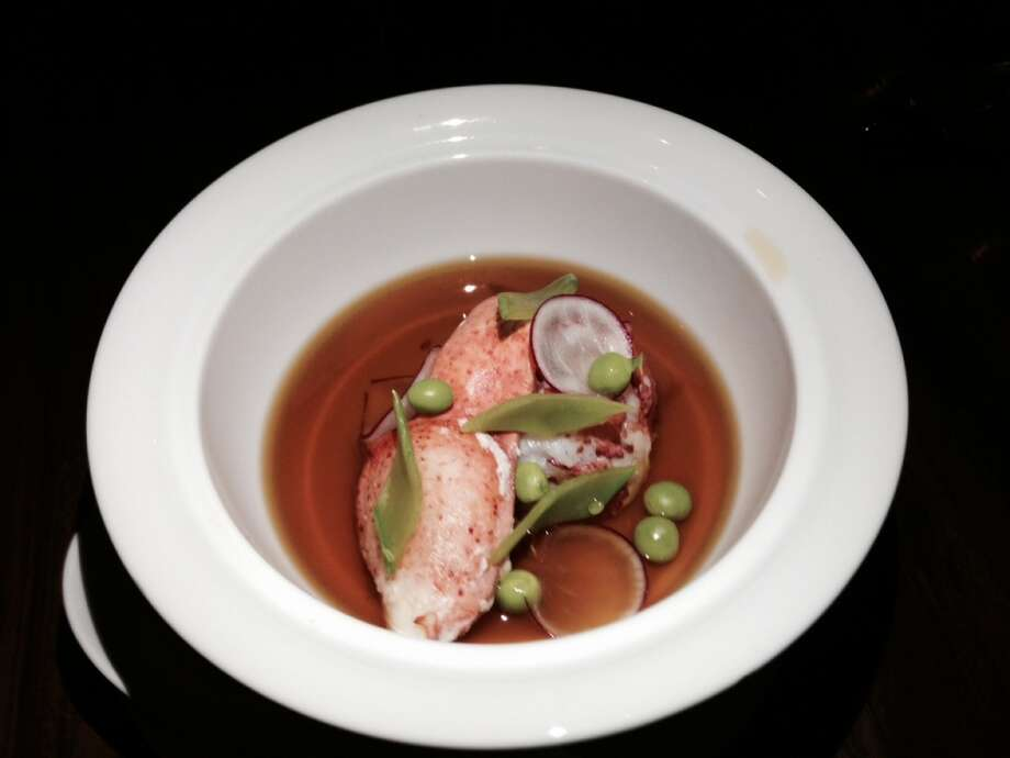 Chawan mushi with lobster on the modern omakase menu