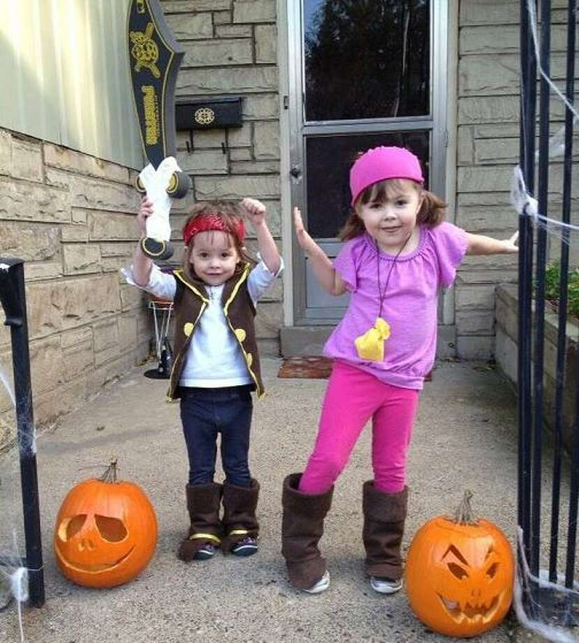 Any hats or scarves a child wears for a costume should be securely tied so they do not fall onto the child's face and obscure vision.Source:CDC Photo: Courtesy Jody Handley