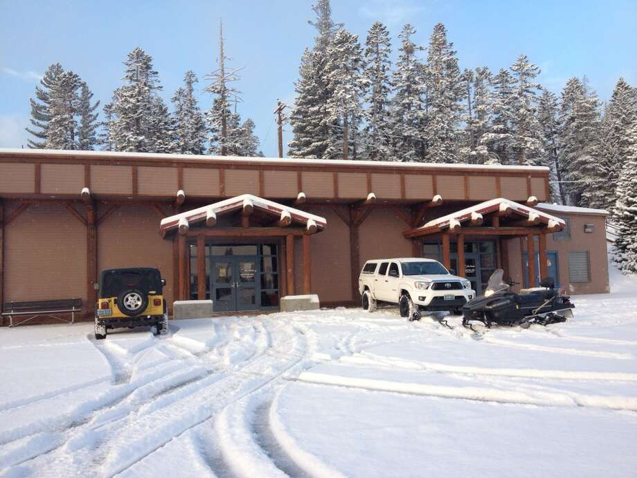 New snow in the parking lot Photo: Mt Rose