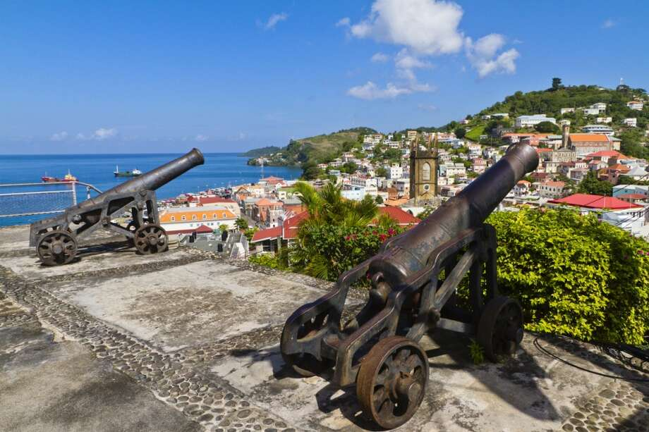 True Blue, Grenada| Maurice Bishop International Airport (GND)  By the looks of its pretty capital, St. George's, the Caribbean island of Grenada might not be such a bad place to end up. Photo: Orietta Gaspari, Getty Images