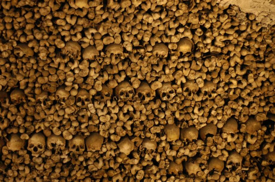 Supposedly, the 5,000 bodies came from graveyards around the city  of Evora that were decommissioned to make way for growth. The great majority of the bones are skulls and femurs. Photo: Spud Hilton, The Chronicle