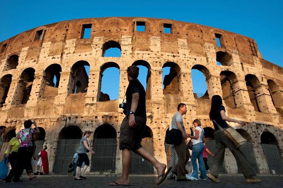 Rome, Italy | Aeroporto di Fiumicino-Leonardo da Vinci (FCO) and Aeroporto di Ciampino (CIA)   Each year around 15 million tourists visit Rome, Italy. And no wonder, as the city is peppered with glorious, ancient sights such as the Coliseum. Photo: Giorgio Cosulich, Getty Images