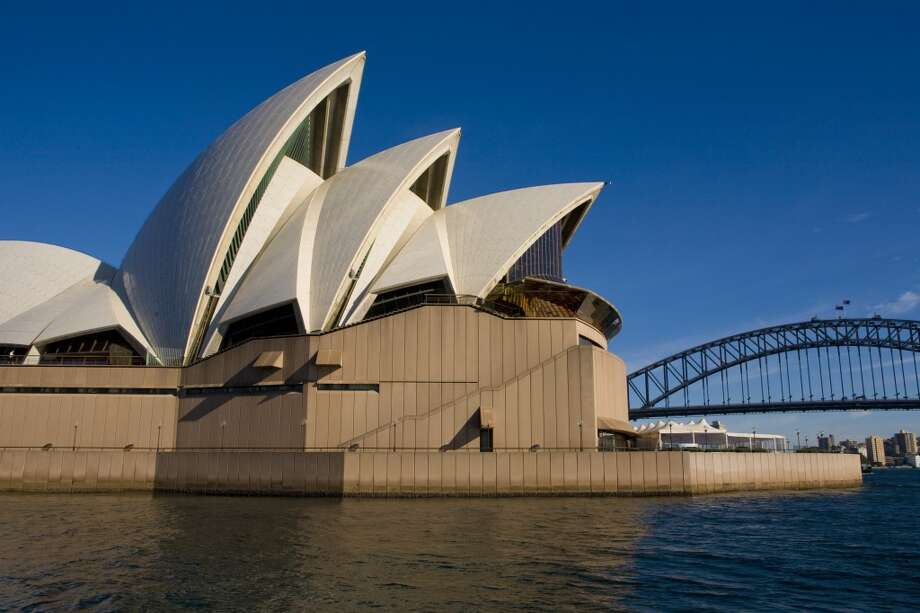 Sydney, Australia Sydney Airport (SYD)  Designed by Danish architect Jorn Utzon, the iconic Sydney Opera House in Australia attracts more than 1.2 million visitors a year. Photo: George Rose, Getty Images