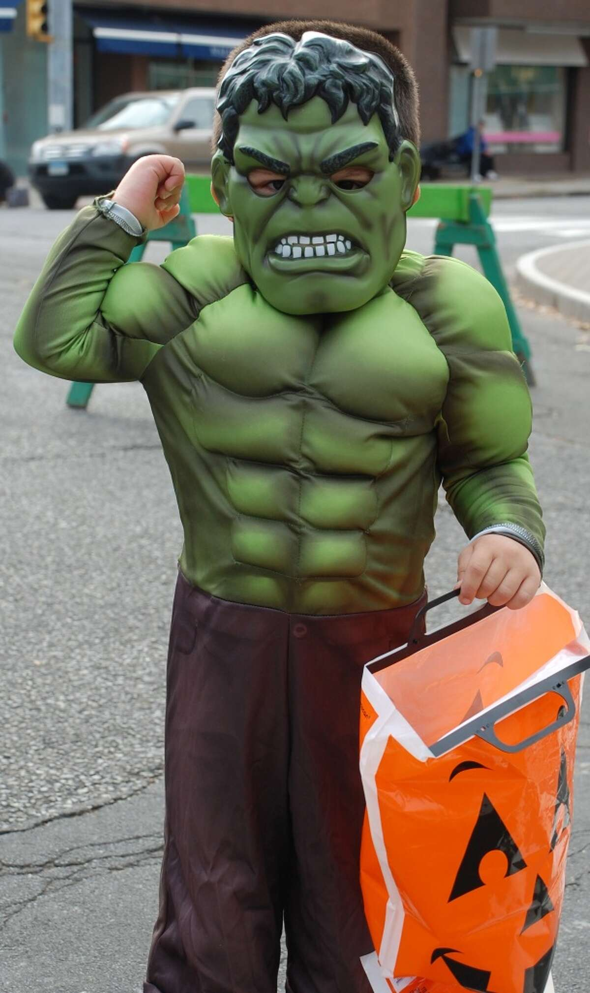 Placing reflective tape somewhere on the back of your costume will help drivers see you. Source:CDC