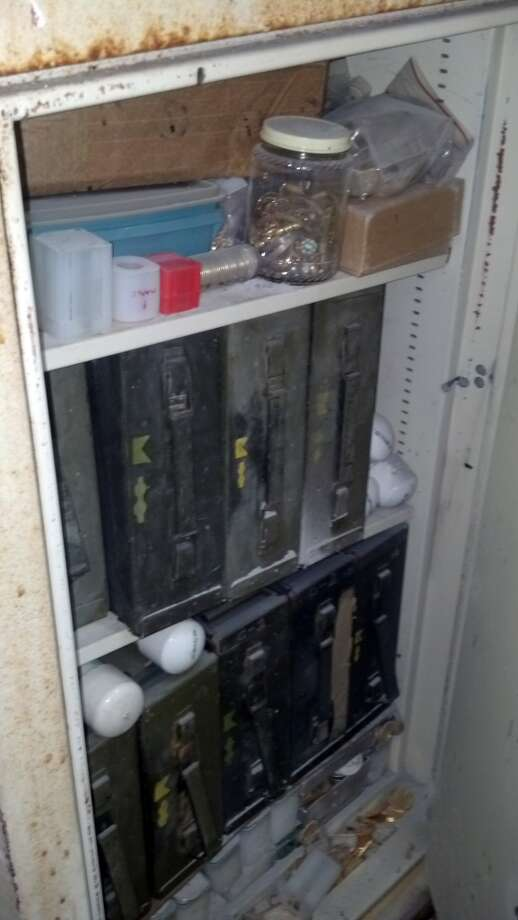The safe at Robbie's Key and Lock Shop where millions of dollars in gold coins and scrap gold  was uncovered. (Joseph Duran photos)
