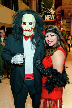 Me and my husband. He was saw and I was the flapper he scared. 