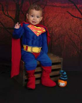 This is my son Nathan and he is 1 1/2 year old and for Halloween he choose to be superman. He grab the superman costume and would not let it go, and when he saw that I bought it he was overaly excited, he sure is someone with a mind of his own. All I can say when I see him in this costume is My Hero! :)