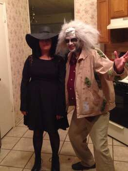 This year we decided to dress as Lydia & beetlejuice ! It turned out awesome !! Esperanza & anthony