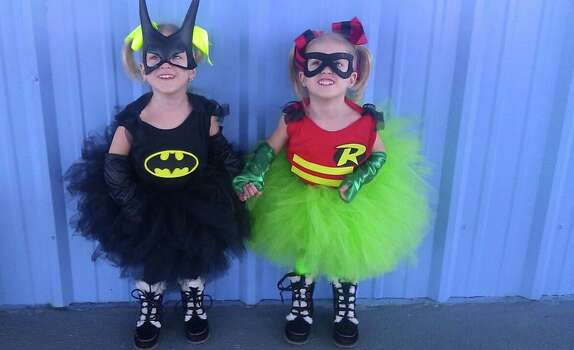 My identical twin girls Kailani & Kymberly. The funniest part is that Kailani is Robin since she is usually the Leader and not the Sidekick!