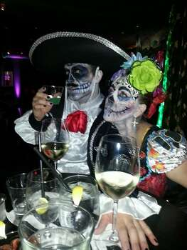 Misa Breton and Girlfriend Yazmin Duvall. Zaza party. Dia de los muertos!
