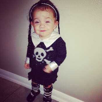 My daughter Eriani as Wednesday Addams. 