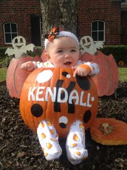 Kendall Marie is 5 months old. The cutest pumpkin we know!