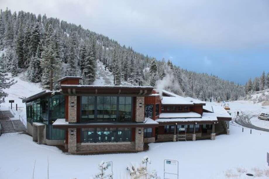 It's already winter in October at Diamond Peak.