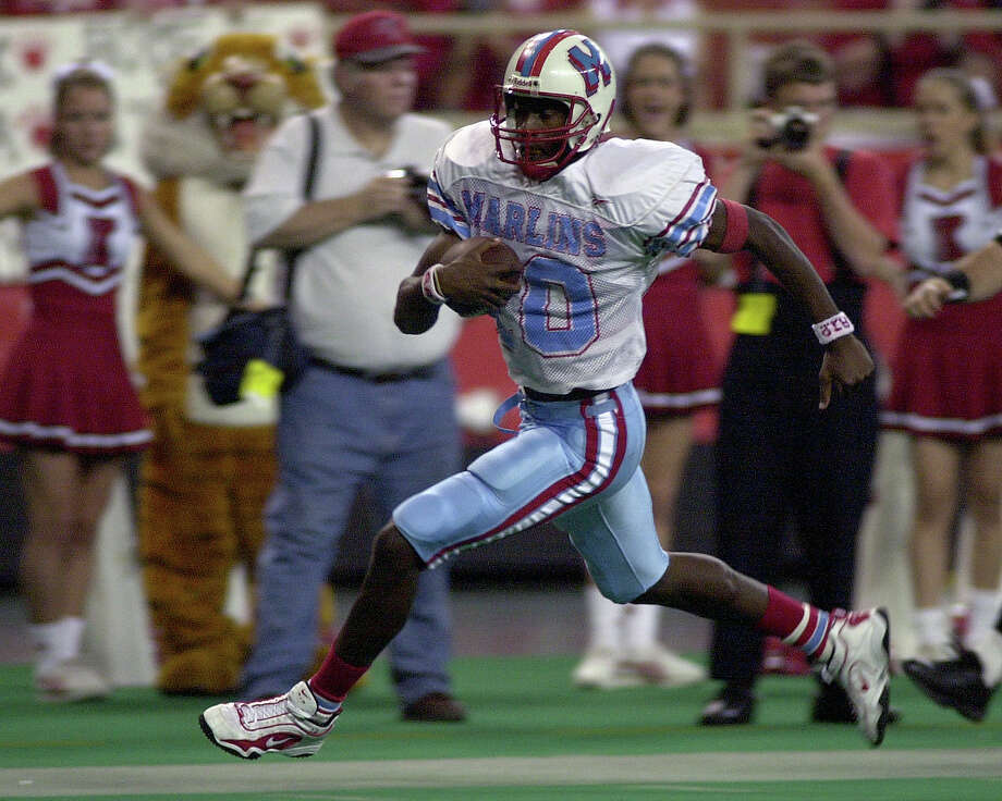 Vince Young, Houston Madison (1999-2001) Young accounted for 12,987 total yards in three years as a starter at Madison. He was Heisman Trophy runner-up in 2005, when he led the University of Texas to the BCS national championship and accounted for 467 yards in a 41-38 Rose Bowl win over USC. He played six NFL seasons with the Titans and Eagles. Photo: Christobal Perez, Chronicle / HOUSTON CHRONICLE