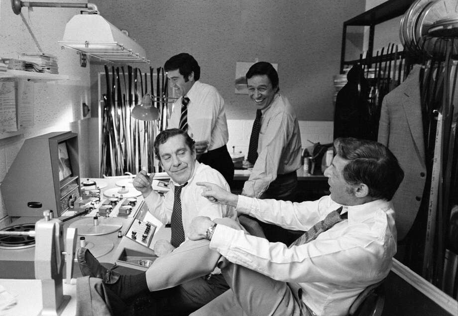 Mike Wallace, Dan Rather, Morley Safer, and Don Hewitt of 60 MINUTES. November 6, 1975. Photo: CBS Photo Archive, CBS Via Getty Images
