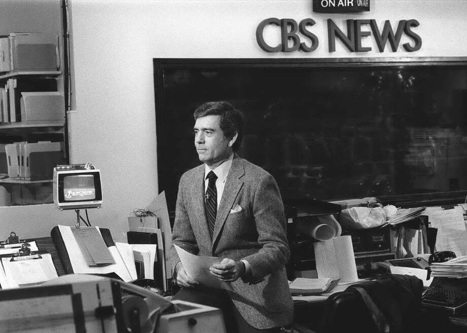 Dan Rather's first day as anchor of the CBS Evening News March 9, 1981. Photo: CBS Photo Archive, CBS Via Getty Images