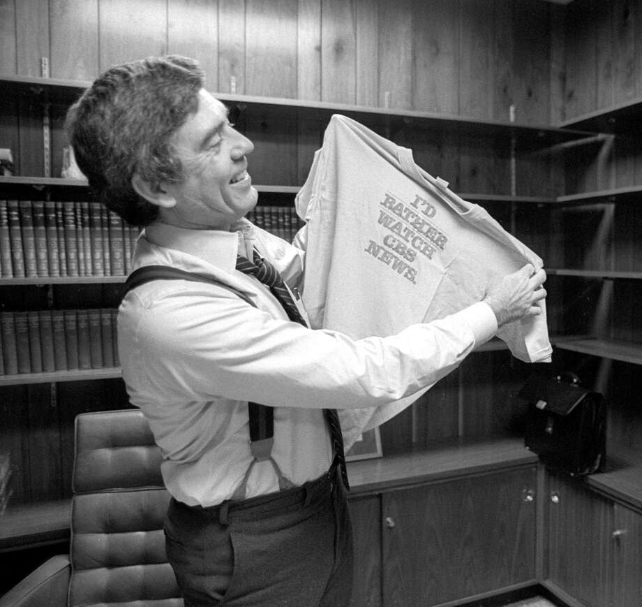 Dan Rather of CBS News, on the premiere date as anchor of The CBS Evening News,  March 9, 1981. Photo: CBS Photo Archive, CBS Via Getty Images