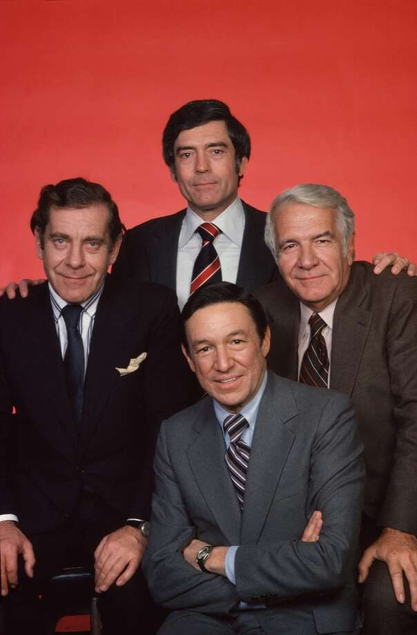 Clockwise from left: Morley Safer, Dan Rather, Harry Reasoner and Mike Wallace, 1982. Photo: CBS Photo Archive, CBS Via Getty Images