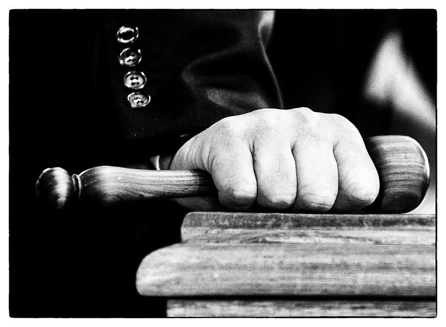 NEWMARKET, ENGLAND - OCTOBER 08: (EDITORS NOTE: This image was processed using digital filters) Auctioneers gavel at Tattersalls yearling sales on October 08, 2013 in Newmarket, England. (Photo by Alan Crowhurst/Getty Images) Photo: Alan Crowhurst, Getty Images