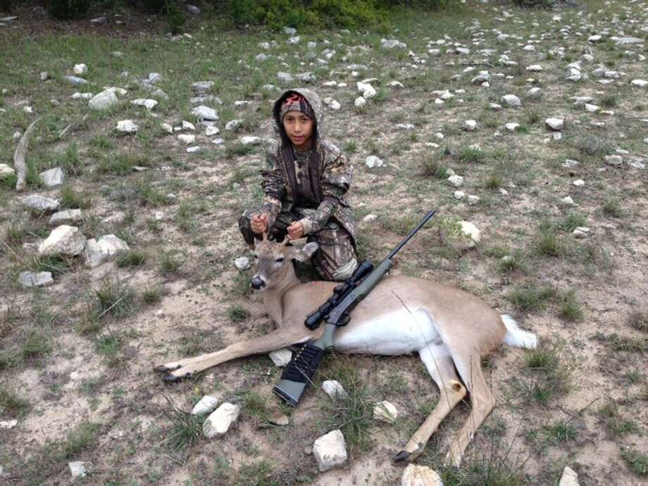Paul Martinez, Jr., 10, with his first deer in Lampasas, Texas. Photo: Reader Submission