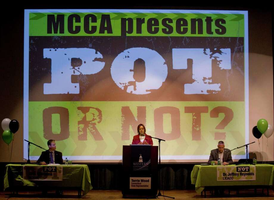 The debate of the future use of marijuana in Connecticut held in the Ives Concert Hall at Western Connecticut State University. Wednesday, Oct. 30, 2013 Photo: Scott Mullin / The News-Times Freelance