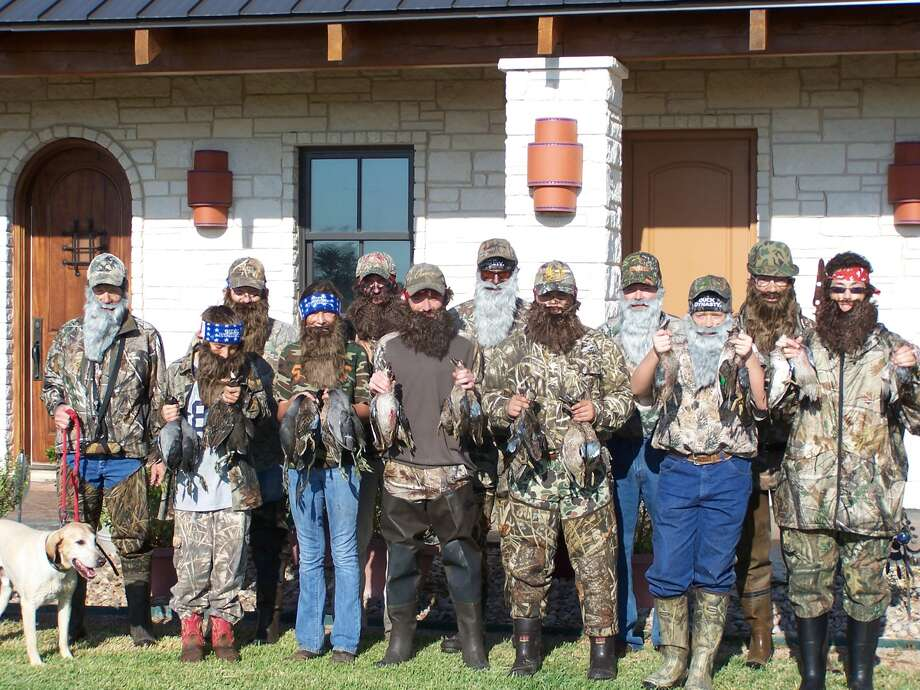 Will Davidson, third from right, enjoyed duck hunting near Garwood, Texas. Photo: Reader Submission