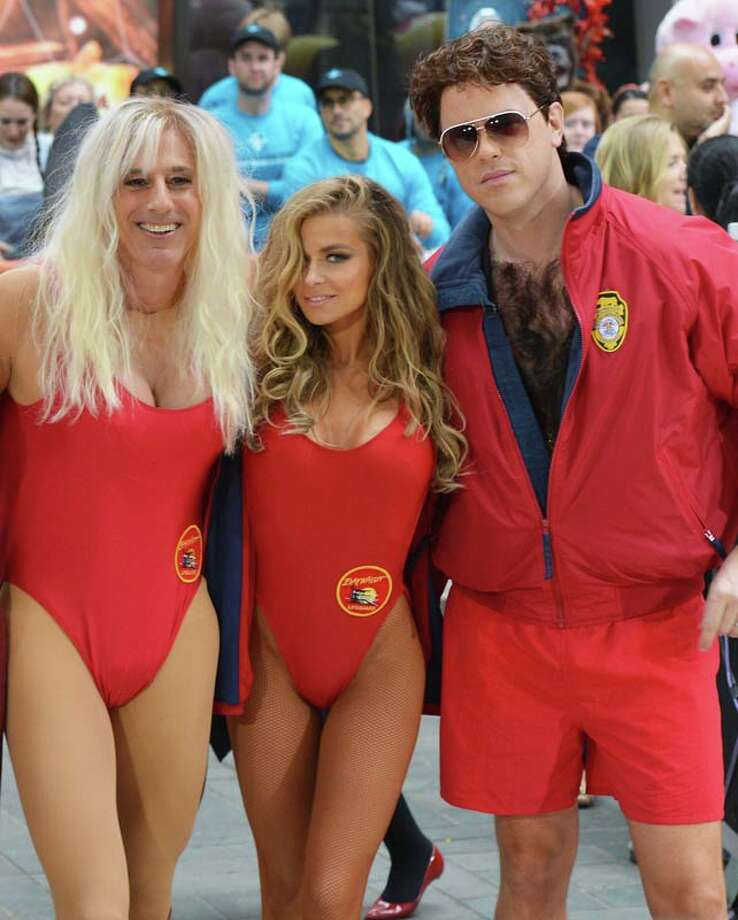 Matt Lauer, Carmen Electra and Willie Geist, dressed as characters from 'Baywatch' Photo: Slaven Vlasic, Getty Images / 2013 Getty Images