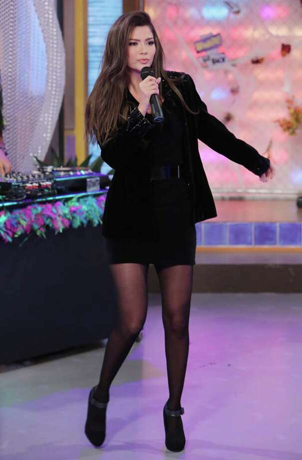 "Ana Patricia Gonzalez celebrates Halloween dressed as Lucero on the set of Univisions ""Despierta America"" Photo: Alexander Tamargo, Getty Images / 2013 Alexander Tamargo"