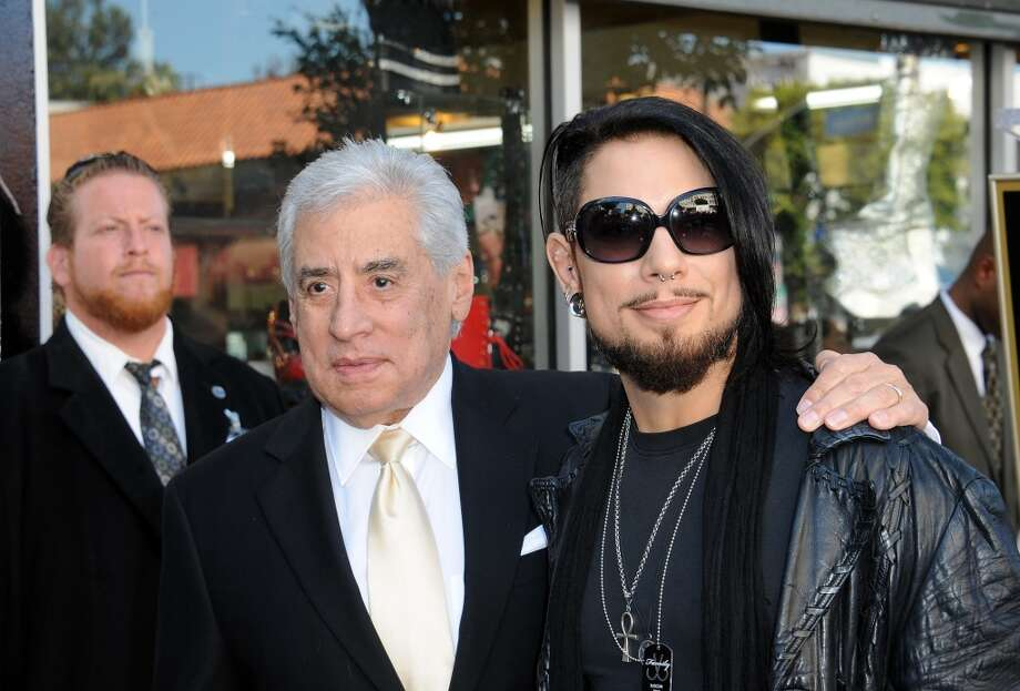 Guitarist Dave Navarro with father at Jane's Addiction Star On The Hollywood Walk Of Fame Ceremoney on October 30, 2013 in Hollywood, California.  (Photo by Albert L. Ortega/Getty Images) Photo: Albert L. Ortega, Getty Images