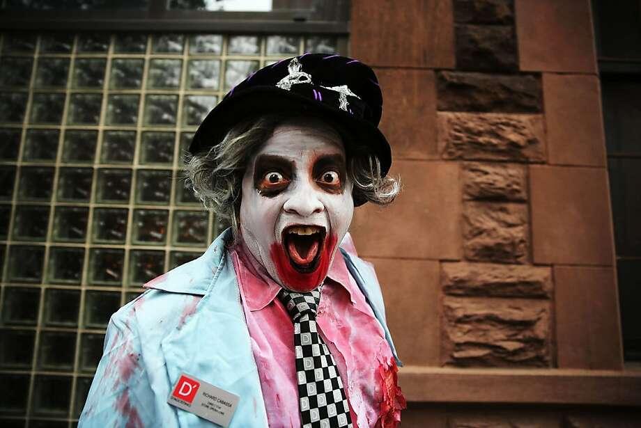 I just saw Matt Lauer!Trauma victim, New York Halloween Parade. Photo: Spencer Platt, Getty Images