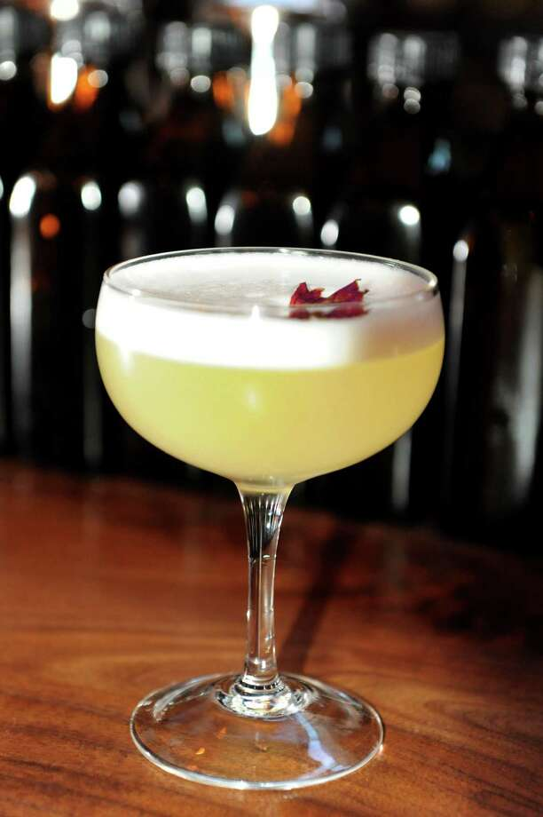 Fish & Game. 13 S. Third St., Hudson.She's so Peachy cocktail made with peach-infused Pisco, Cocchi Americano vermouth and fresh lemon juice on Friday, Oct. 25, 2013, at Fish and Game in Hudson, N.Y. (Cindy Schultz / Times Union) Photo: Cindy Schultz / 00024346A