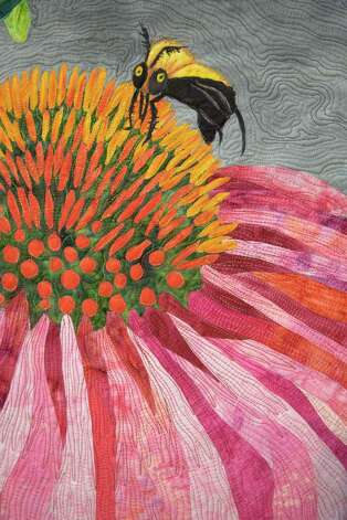 Detail from Susan Jackan s Visit to a Coneflower. John Everett photo Photo: John Everett / John Everett