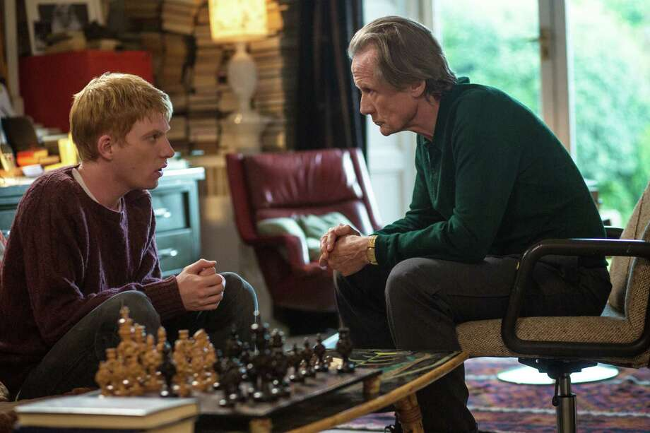 "Domhnall Gleeson, left, and Bill Nighy star in ""About Time."" Photo: Murray Close / © Universal Pictures"