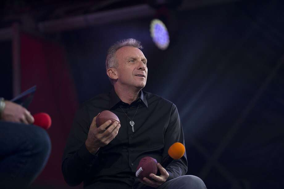 Former San Francisco 49ers quarterback Joe Montana looks out towards the crowd as he is interviewed on stage during an NFL fan rally in Trafalgar Square, London, Saturday, Oct. 26, 2013.  The San Francisco 49ers are due to play the the Jacksonville Jaguars at Wembley stadium in London on Sunday, Oct. 27 in a regular season NFL game.  (AP Photo/Matt Dunham) Photo: Matt Dunham, Associated Press