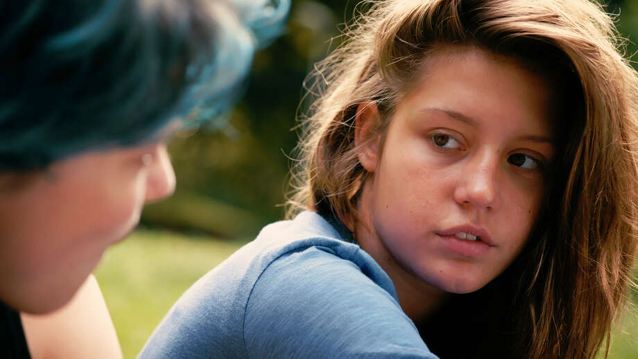 """Léa Seydoux, left, stars as Emma opposite Adèle Exarchopoulos as Adele in """"Blue Is the Warmest Color."""" Photo: HOEP / Courtesy Sundance Selects"""