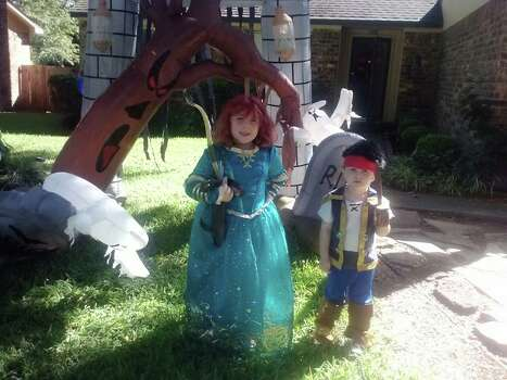 Cody and Charlotte! Getting ready for fall festival!