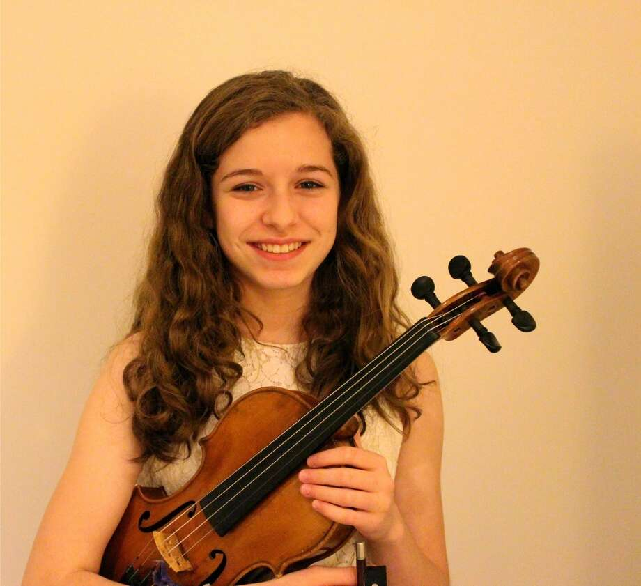 Violinist Ellie Shapiro of Westport is one of a number of young artists that will be featured in concert in Southport, Conn., Nov. 3, 2013.