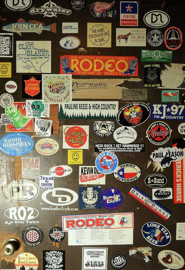 The bathroom door at Blanco's Wednesday Oct. 23,2013.  (Dave Rossman photo) Photo: Dave Rossman, For The Houston Chronicle / © 2013 Dave Rossman