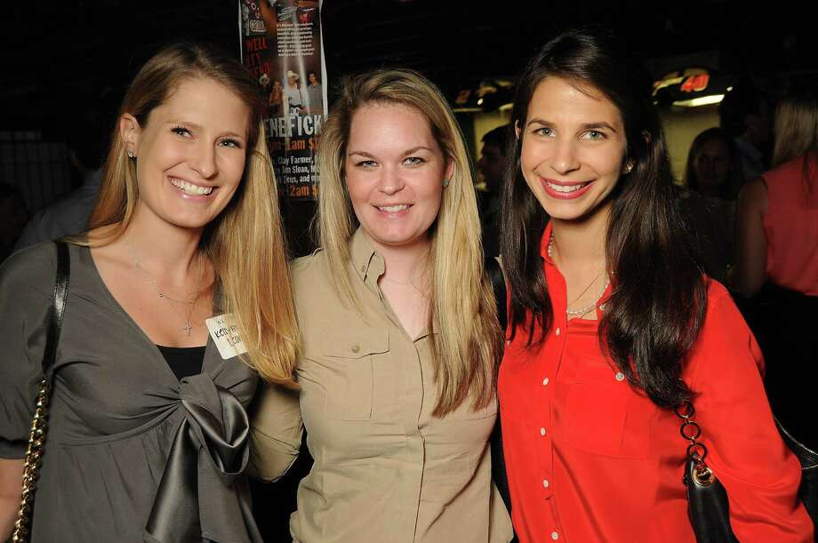From left: Kelly Leonard, Lauren Minor and Roula Zoghbi at a party for former Kinkaid and St. John students at Blanco's Wednesday Oct. 23,2013.  (Dave Rossman photo) Photo: Dave Rossman, For The Houston Chronicle / © 2013 Dave Rossman