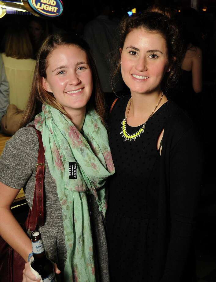 Adair Cummings and Nicole Rakowich at a party for former Kinkaid and St. John students at Blanco's Wednesday Oct. 23,2013.  (Dave Rossman photo) Photo: Dave Rossman, For The Houston Chronicle / © 2013 Dave Rossman