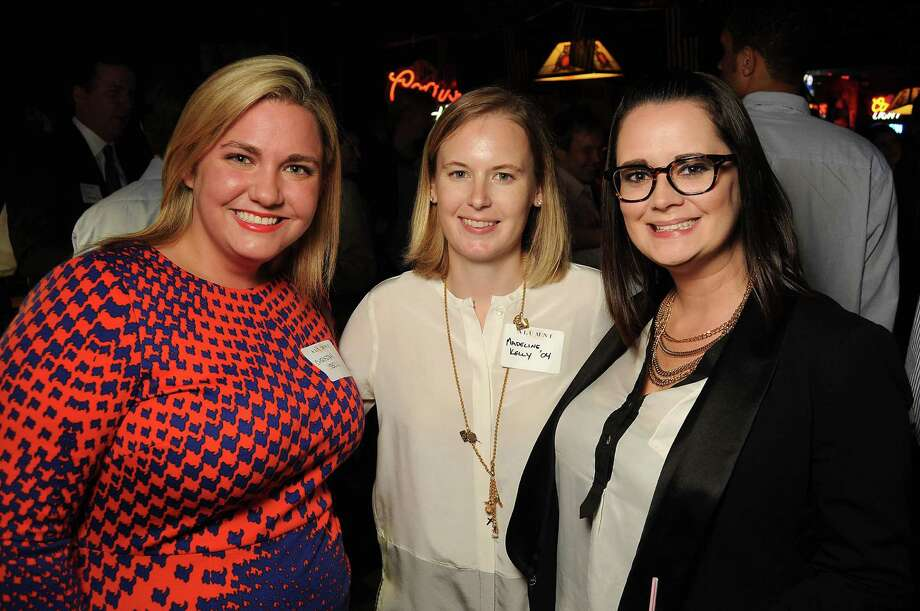 From left: Christan Isbell, Madeline Kelly and Lindsey Tart at a party for former Kinkaid and St. John students at Blanco's Wednesday Oct. 23,2013.  (Dave Rossman photo) Photo: Dave Rossman, For The Houston Chronicle / © 2013 Dave Rossman