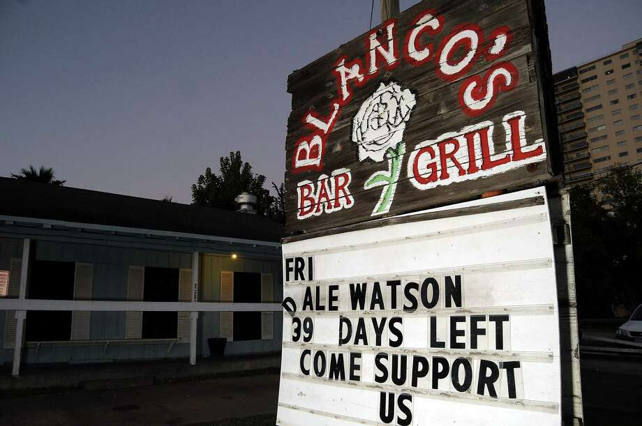 The sign at Blanco's Wednesday Oct. 23,2013.  (Dave Rossman photo) Photo: Dave Rossman, For The Houston Chronicle / © 2013 Dave Rossman