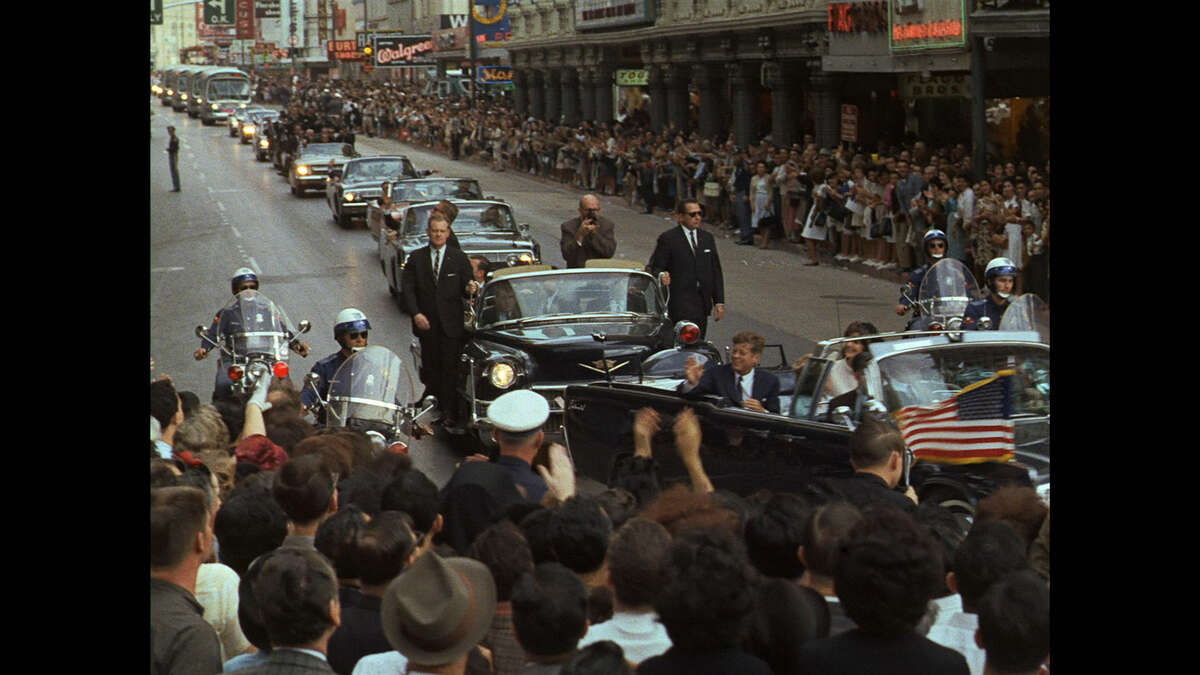 The National Geographic Channel takes us along for a ride with the Kennedys through downtown San Antonio on Nov. 21, 1963.