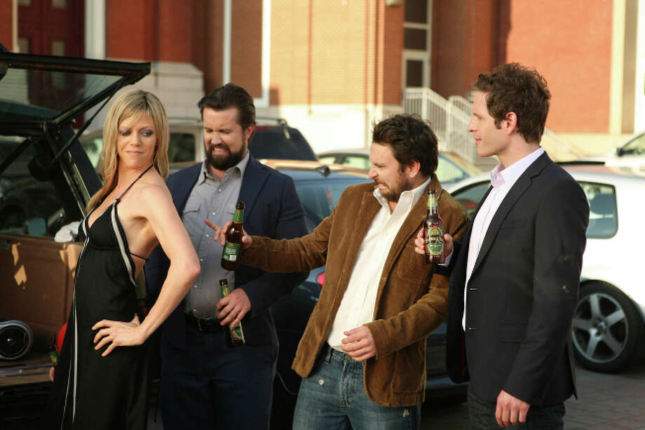 IT'S ALWAYS SUNNY IN PHILADELPHIA: Dee, Fat Mac, Charlie and Dennis  CR: Patrick McElhenney / FX.