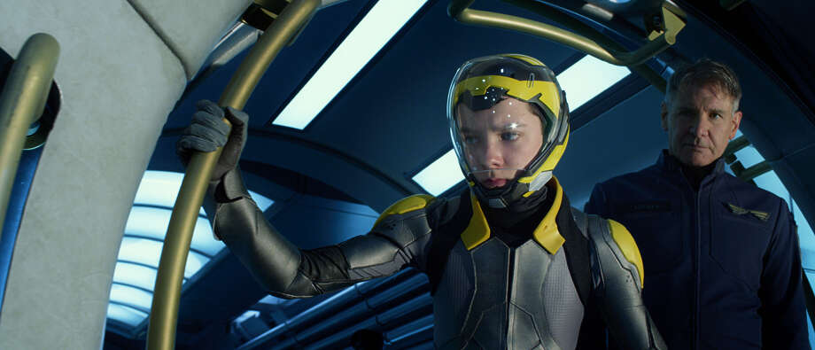 "This image released by Summit Entertainment shows Asa Butterfield, left, and Harrison Ford in a scene from ""Ender's Game."" (AP Photo/Summit Entertainment) ORG XMIT: NYET232 / Summit Entertainment"