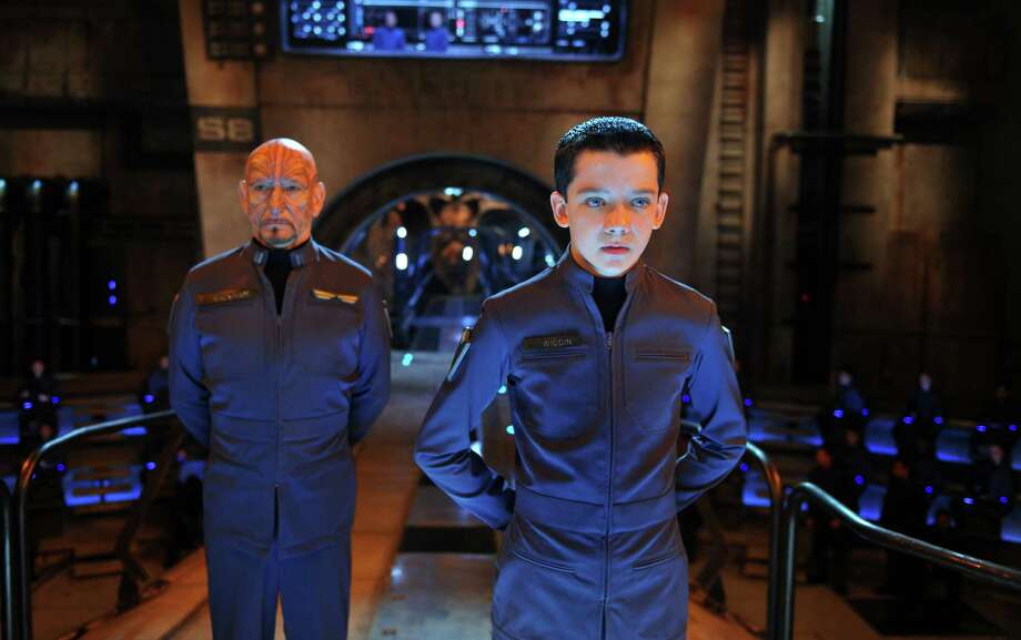 "This image released by Summit Entertainment shows Ben Kingsley, left, and Asa Butterfield in a scene from ""Ender's Game."" (AP Photo/Summit Entertainment, Richard Foreman) ORG XMIT: NYET228 Photo: Richard Foreman / Summit Entertainment"
