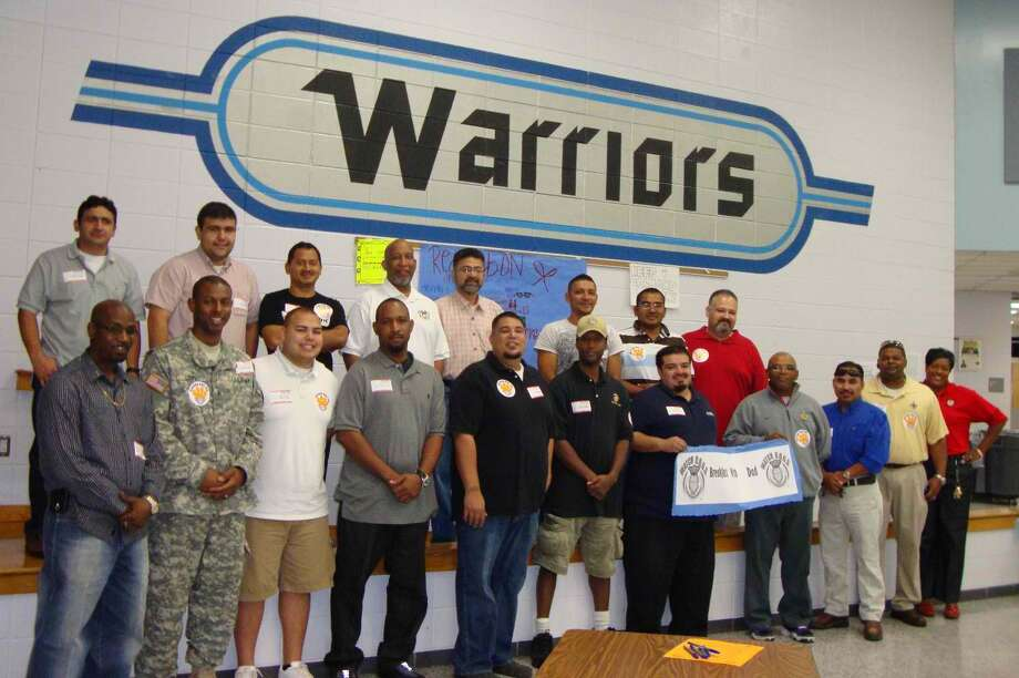 More than 40 men attended a Breakfast with Dad event at Hodges Bend Middle School. Photo: Provided By Fort Bend Independent School District