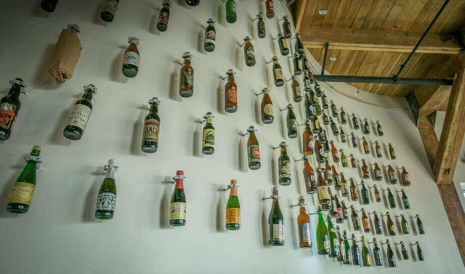 Beer on the wall at Woodfour Brewing Company in Sebastopol. Photo: John Storey, Special To The Chronicle