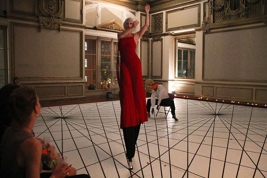 "Carin Noland dances on stilts in ""Layla Means Night."" Photo: Jose Diaz"