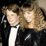 Michael J. Fox and Tracy Pollan in 1986.
